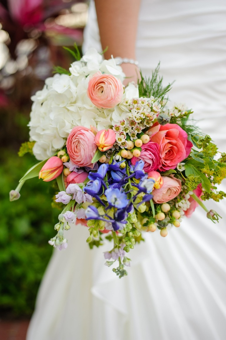 Bright Pink and Purple Wedding Bouquets | St. Pete Wedding Florist Wonderland Floral Art
