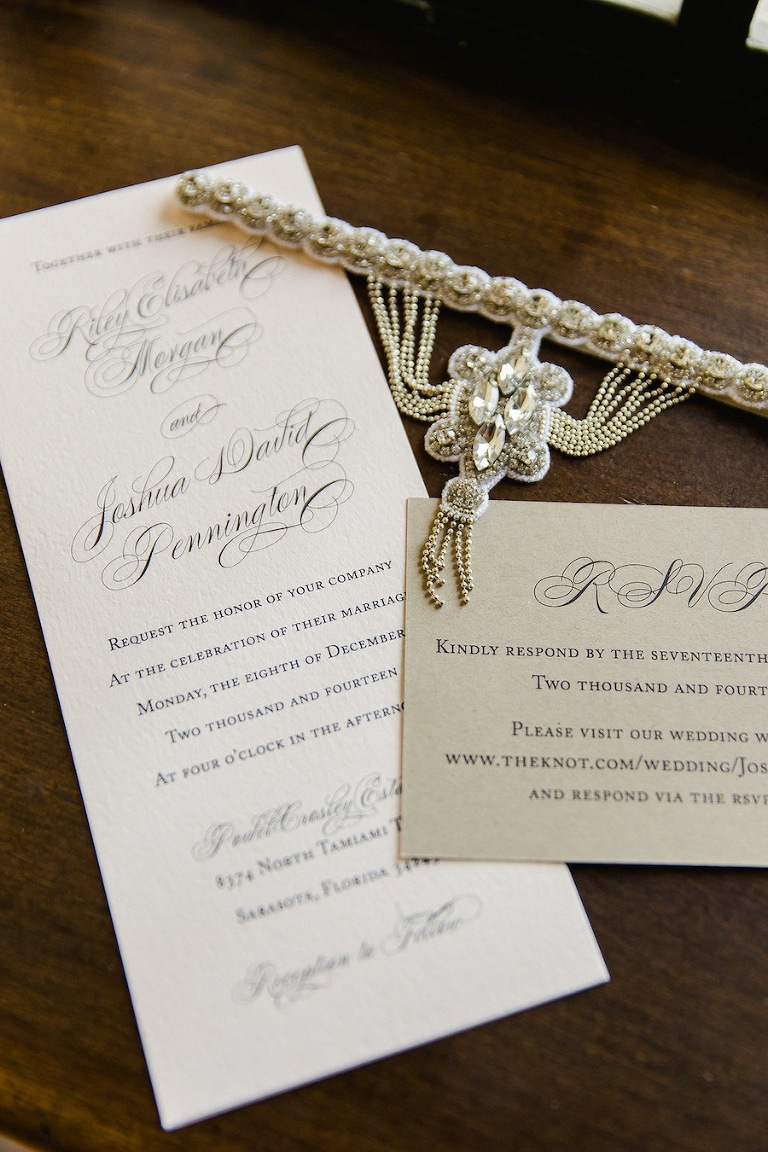 Calligraphy Inspired Elegant Wedding Invitations