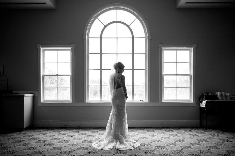 Jim Hjelm Lace Wedding Dress with Open Back | Tampa Wedding Photographer Marc Edwards Photograps