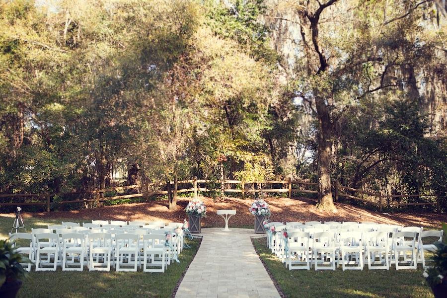 Rustic, Outdoor Tampa Bay Wedding Ceremony at Cross Creek Ranch