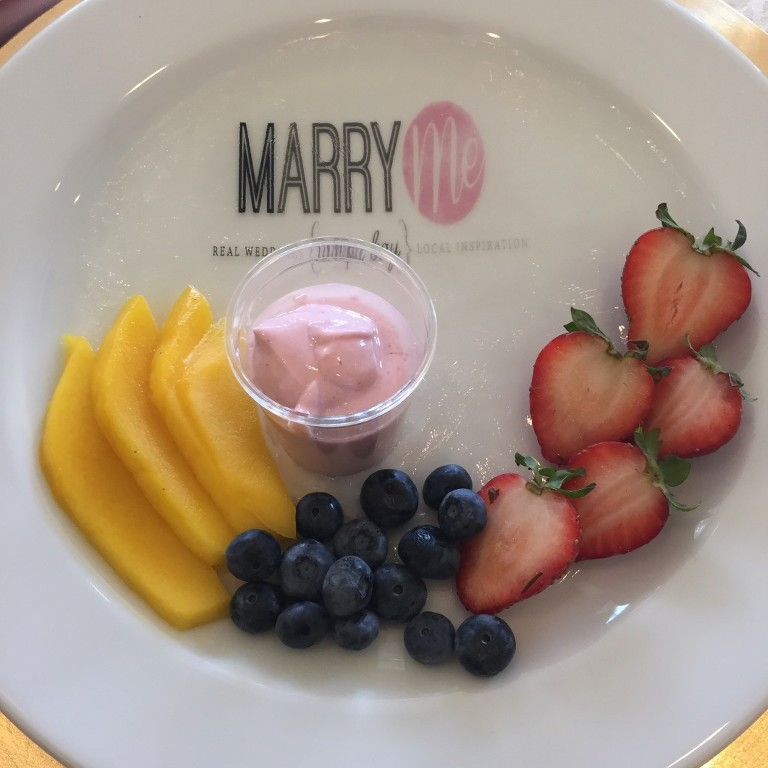 Edible Marry Me Tampa Bay Logo Dessert | Hunter's Green Country Club