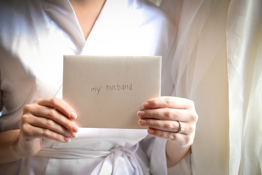 Getting Ready Details | Card to Groom on Wedding Day