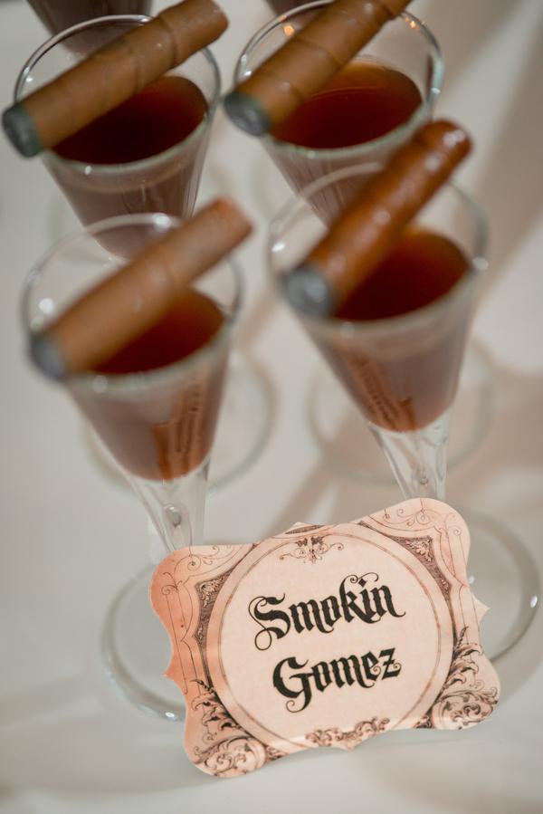 Halloween Inspired Cigar Bar with Brandy Shots