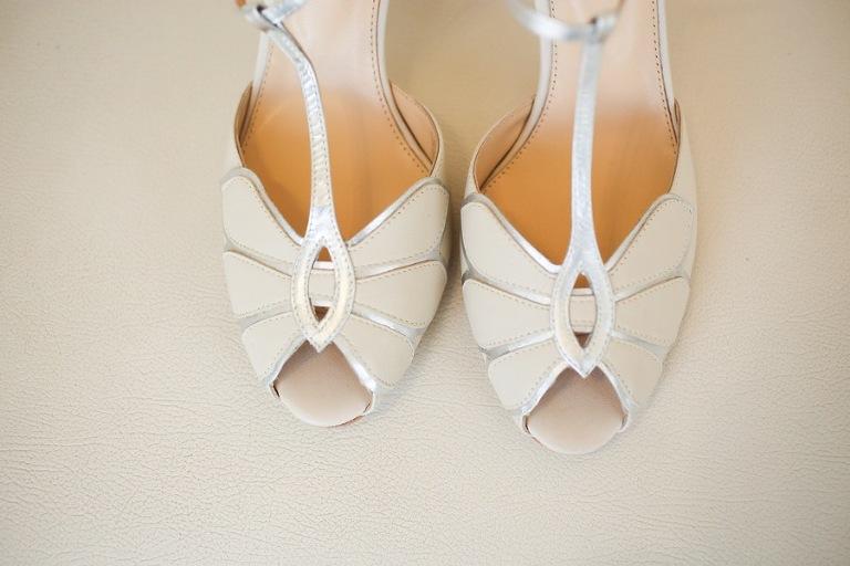 White Wedding Peep Toe Heels, Open Toed Beach Wedding Shoes