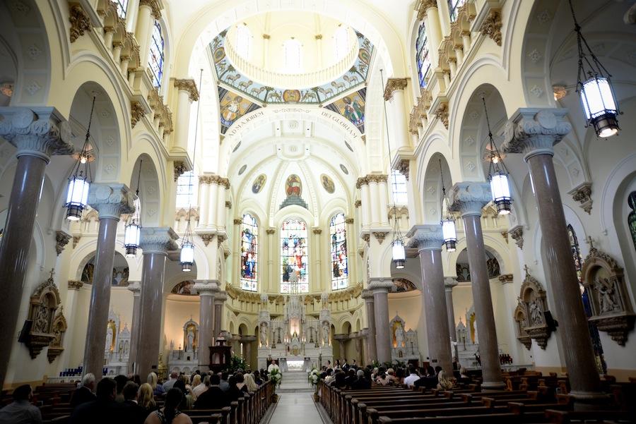 Downtown Tampa Wedding Ceremony | Sacred Heart Catholic Church