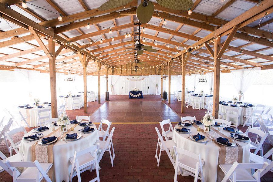Outdoor Barn Wedding Reception   Rustic Tampa Bay Wedding Venue Cross Creek Ranch