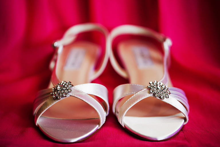 Ivory, Bridal Wedding Shoes with Rhinestone Crystal Accent