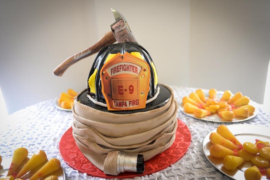 Firefighter Groom's Wedding Cake
