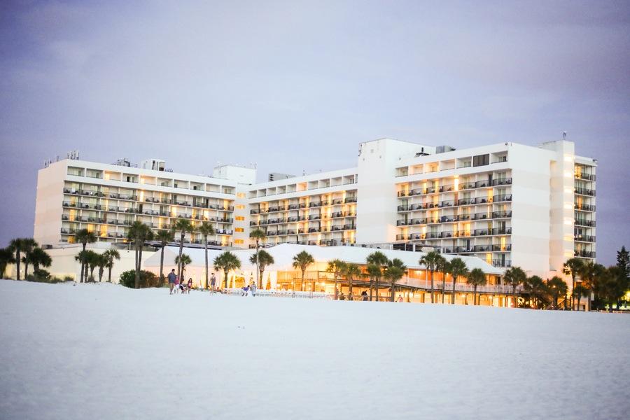 Outdoor Facade of the Hilton Clearwater Beach Wedding Venue
