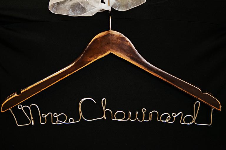 "Wire, ""Mrs"" Last Name Wedding Hanger"