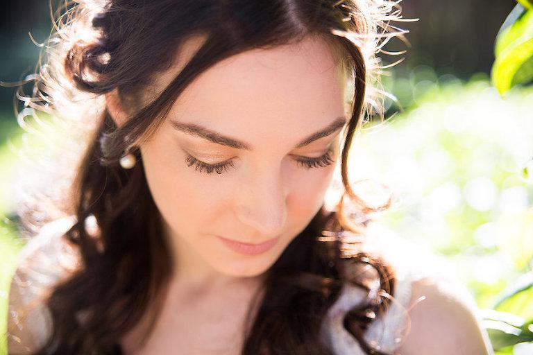 Wedding Makeup Bridal Portrait | Rustic Tampa Bay Wedding