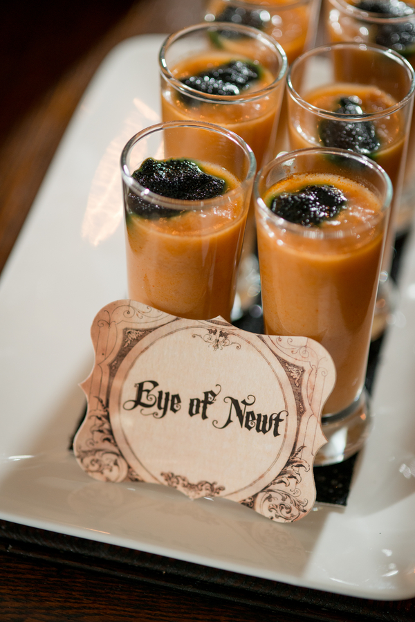 Halloween Inspired, Eye of Newt, Orange Guest Appetizer