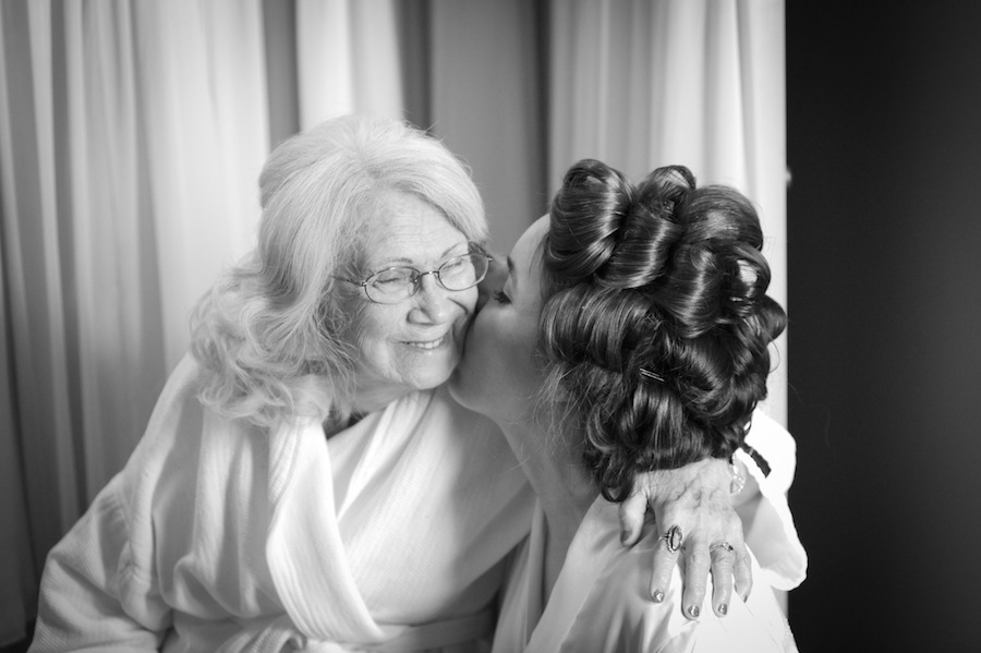 Bride with Grandmother | Getting Ready Wedding Day Details