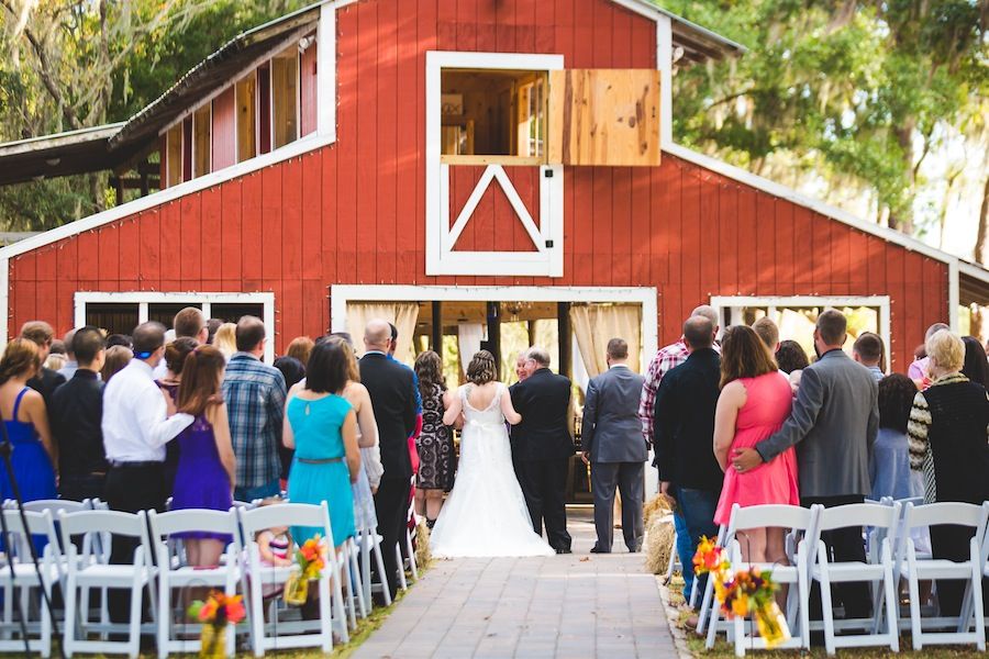 Rustic, Barn Wedding Ceremony | The Barn Crescent Lake at Old McMickey's Farm