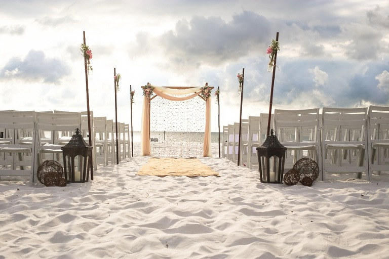 Clearwater Beach Wedding Ceremony Decor | Hilton Clearwater Beach