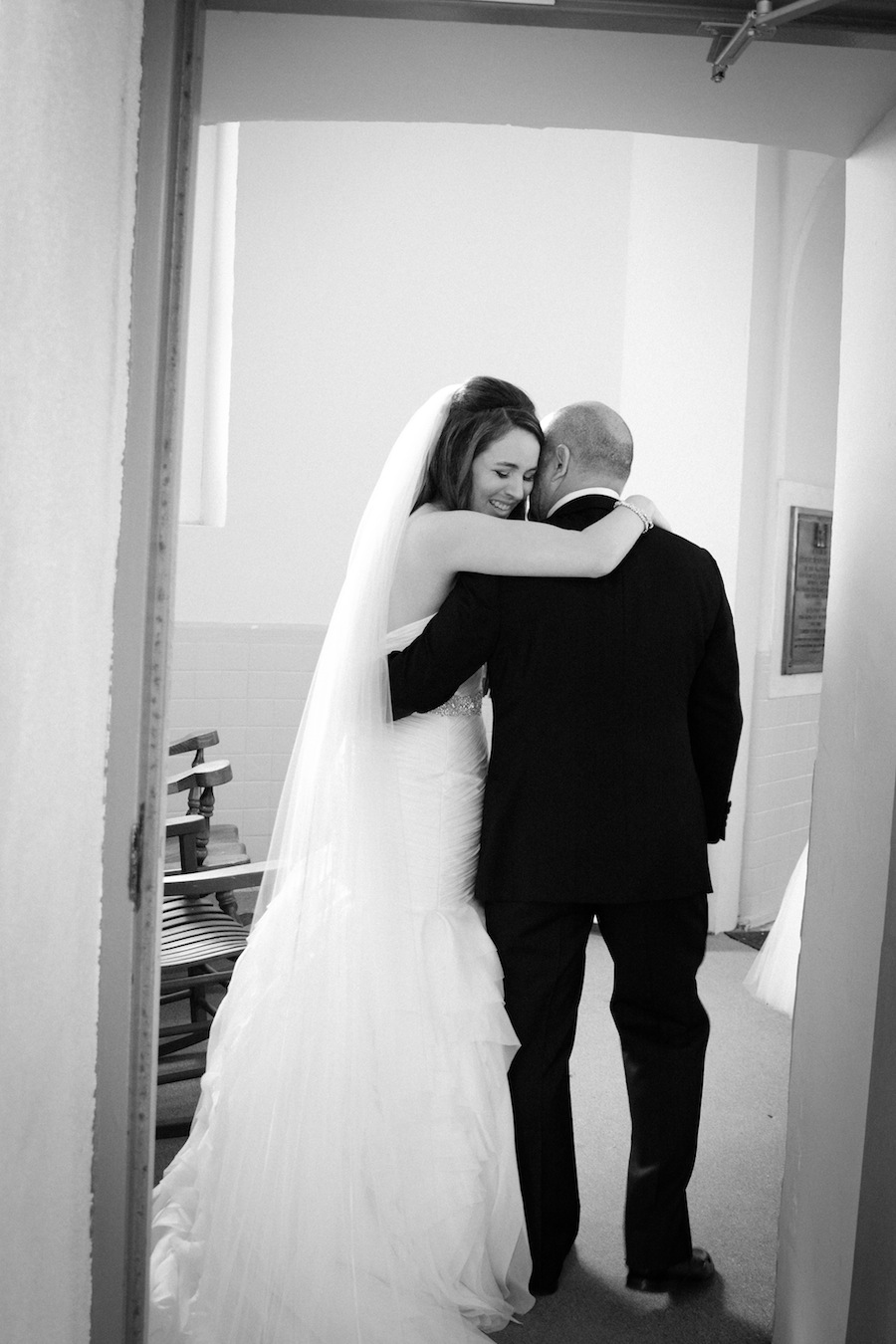 Bride First Look with Father | Getting Ready Wedding Day Details