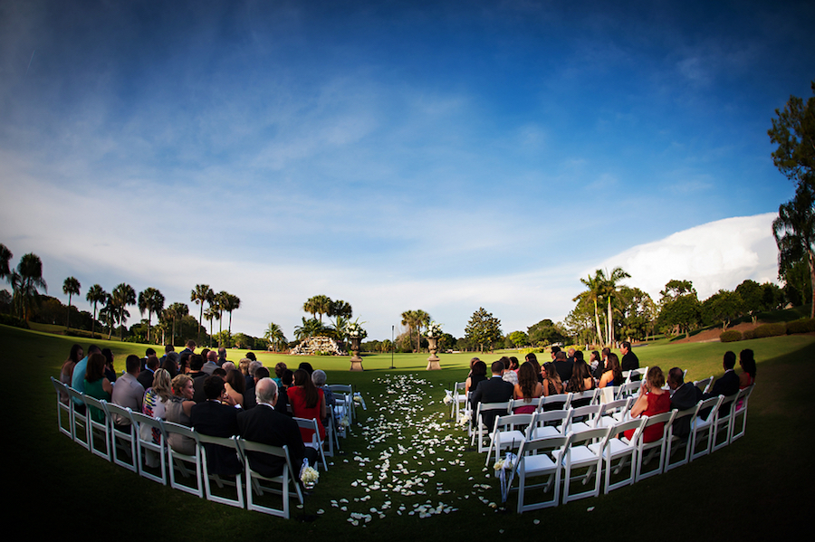 Outdoor Golf Course Wedding Ceremony | Clearwater Wedding Venue Countryside Country Club