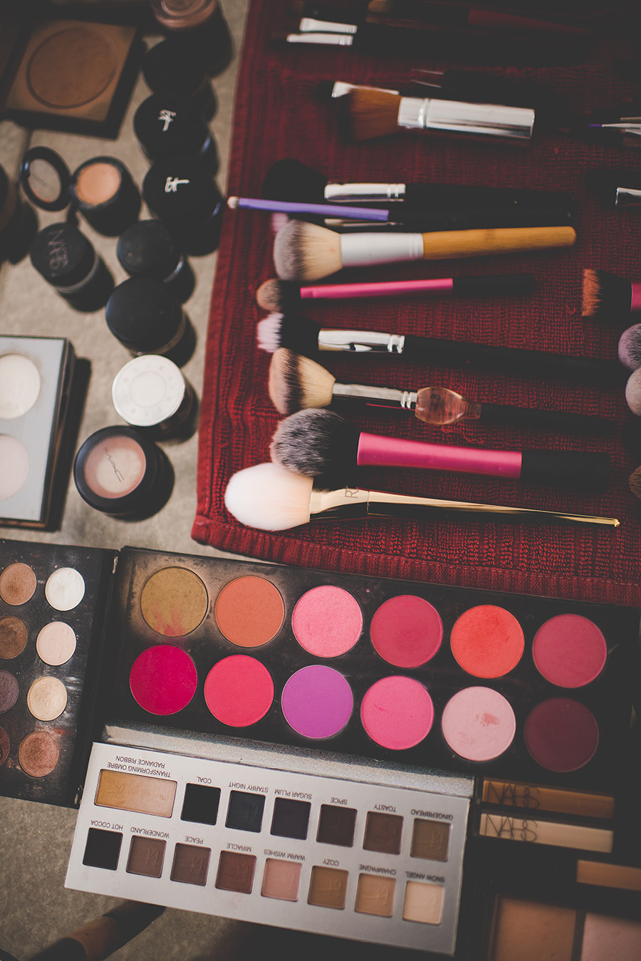 Bridal Makeup Palette and Brushes
