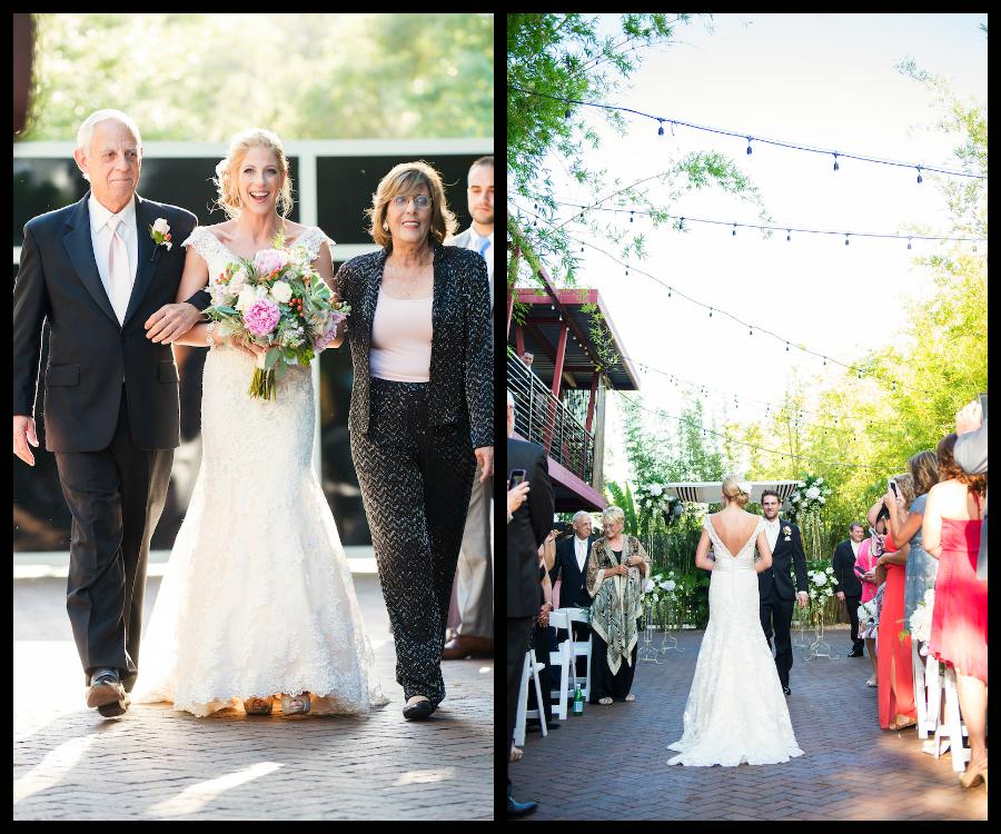 Downtown St. Pete Bride Walking Down the Wedding Aisle | St. Petersburg Wedding Venue NOVA 535