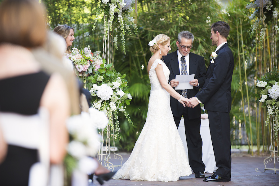 Bride and Groom Exchanging Wedding Vows | St. Petersburg Wedding Venue Nova 535