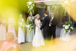 Outdoor, Bamboo, Courtyard, Jewish Wedding Ceremony | Bride and Groom Exchanging Wedding Vows | St. Petersburg Wedding Venue Nova 535