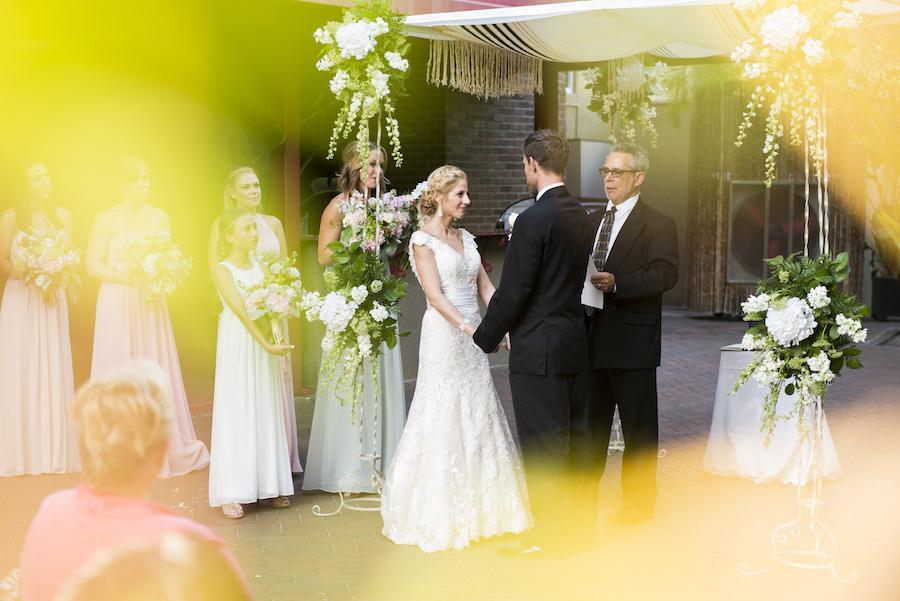 Outdoor, Bamboo, Courtyard, Jewish Wedding Ceremony | Bride and Groom Exchanging Wedding Vows | St. Petersburg Wedding Venue Nova 535