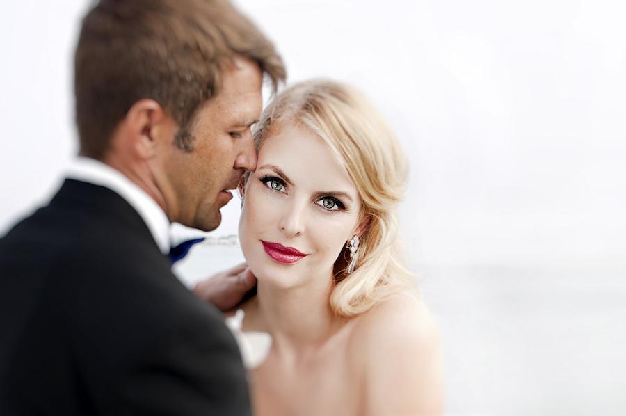 Bride and Groom Wedding Portrait   Modern Tampa Wedding Photographer Djamel Photography