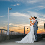 Rose Peach And Gold Romantic Glam Waterfront Wedding