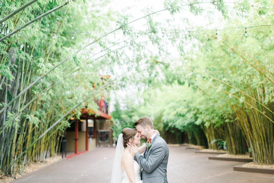 Bride and Groom Wedding Portrait | Downtown St. Pete Wedding Venue NOVA 535 Event Space Bamboo Garden