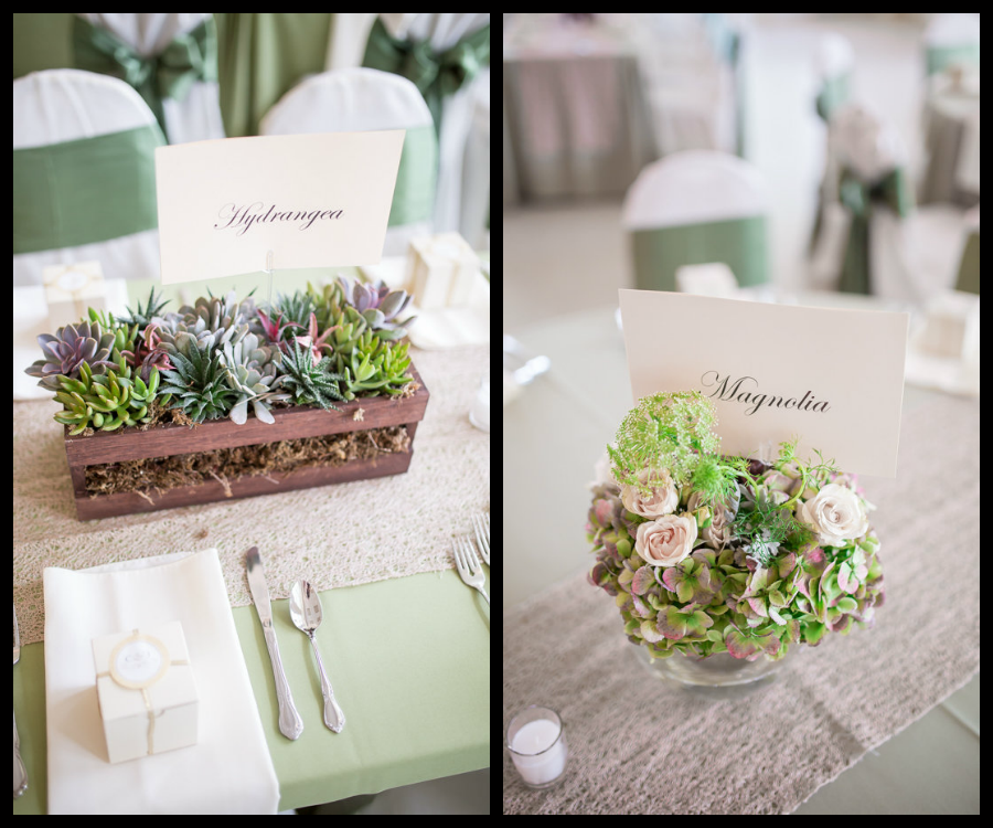 Vintage Inspired Wedding Ceremony Centerpieces With Roses and Succulents