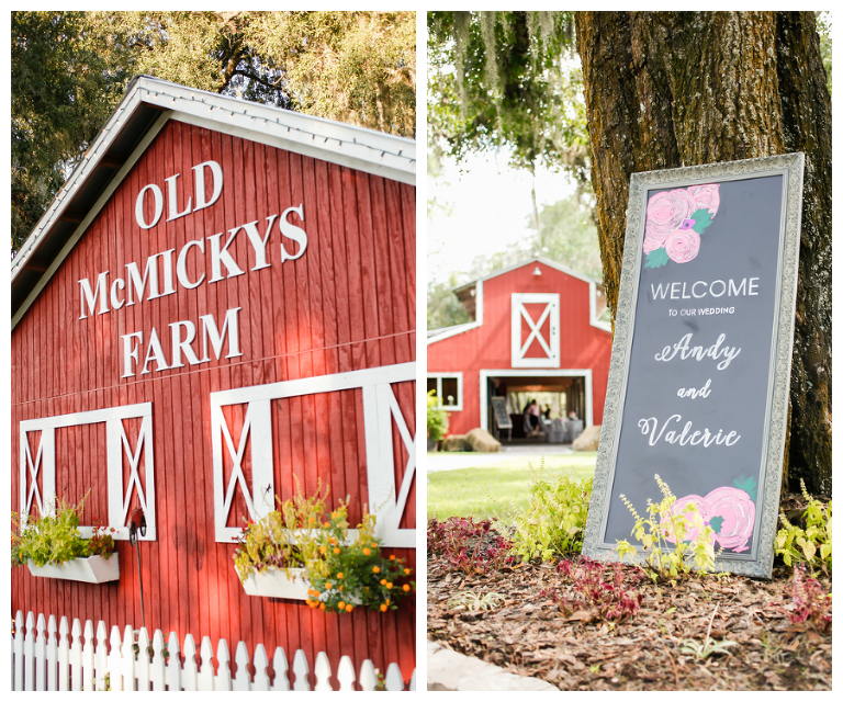 Chalkboard Wedding, Welcome Sign| Rustic, Tampa Bay Wedding Venue The Barn at Crescent Lake at Old McMicky's Farm