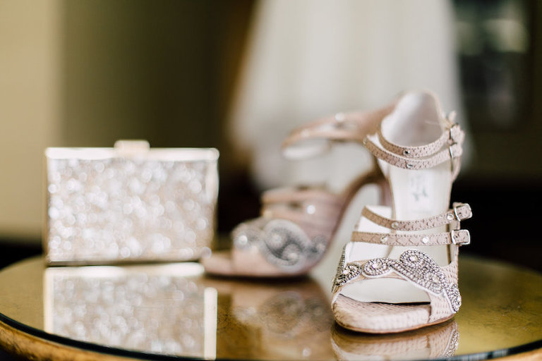 Blush, Rhinestone, Crystal Wedding Shoes