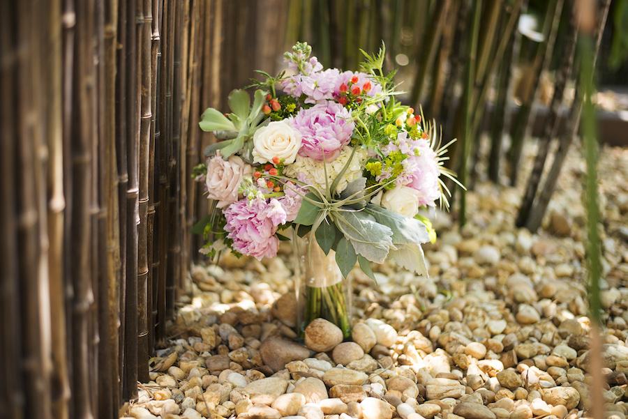 Blush, Pink, and White Bridal Wedding Bouquet