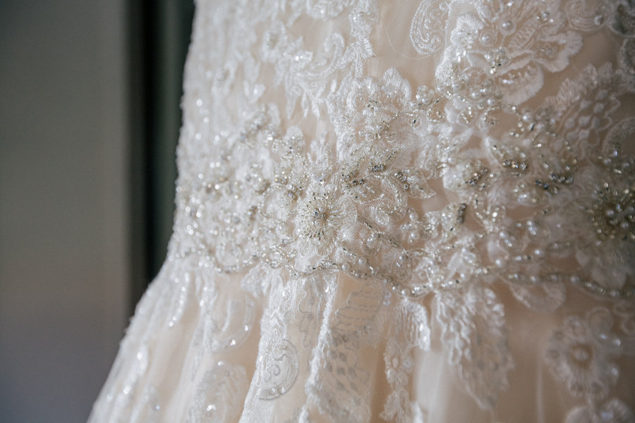 Ivory, Lace Wedding Dress Detail with Beading