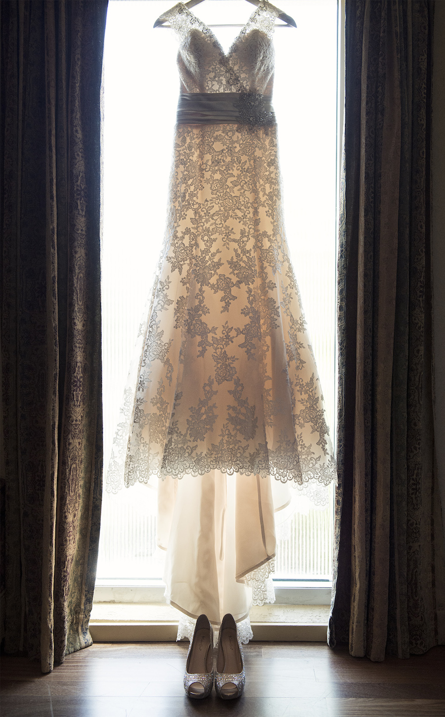 Ivory, Lace Mori Lee Wedding Gown