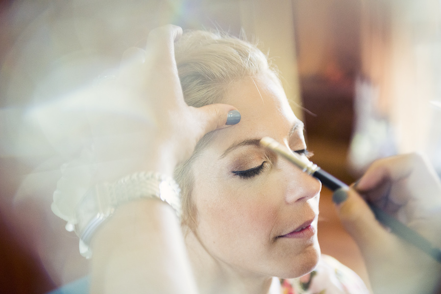 Bride Getting Ready on Wedding Day | Bridal Hair and Makeup Portrait