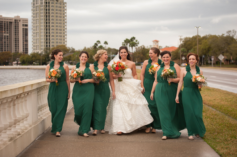 Tampa garden weddings real tampa wedding inspiration for Wedding dresses tampa bay area