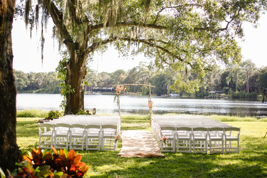 Outdoor, Waterfront Wedding Ceremony Site   Tampa Bay Wedding Venue The Barn at Crescent Lake at Old McMicky's Farm