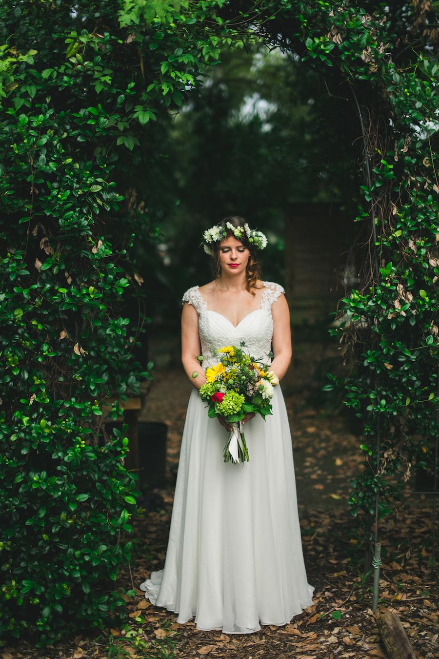 Boho Garden Bride Portrait   Best St. Pete Wedding Photographer   Roohi Photography