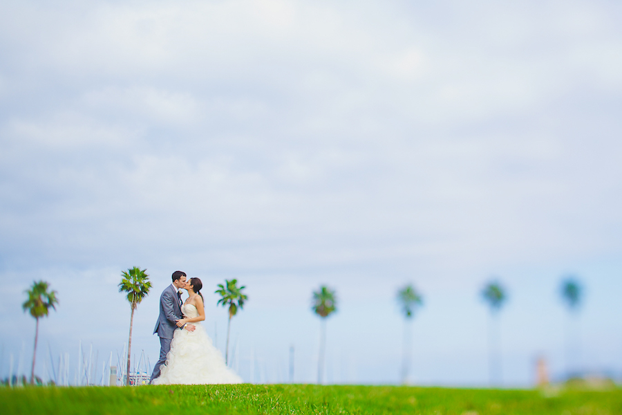 Downtown St. Pete Bride and Groom Wedding Portrait   Best St. Pete Wedding Photographer   Roohi Photography