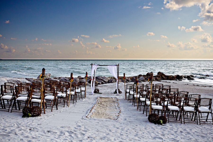 St. Pete/Clearwater Beach Bamboo Folding Chair and Arch Rental | St. Petersburg Tent, Chair and Furniture Rental Coast to Coast Rentals