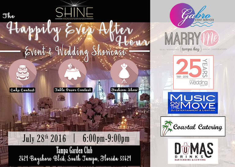 Happily Ever After Hour Tampa Wedding Show at the Tampa Garden Club