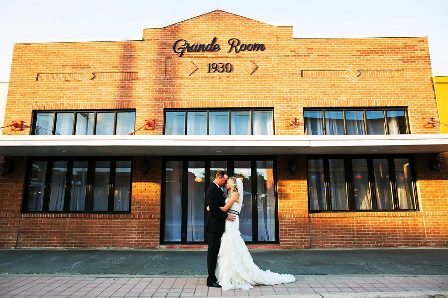 Outdoor, Tampa Bride and Groom Wedding Portrait | Tampa Wedding Photographer Limelight Photography |Tampa Ybor City Wedding Venue 1930 Grande Room
