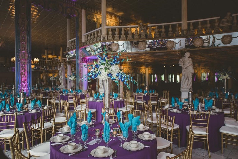 Enjoyable Turquoise And Purple Wedding Centerpieces Home Interior And Landscaping Synyenasavecom