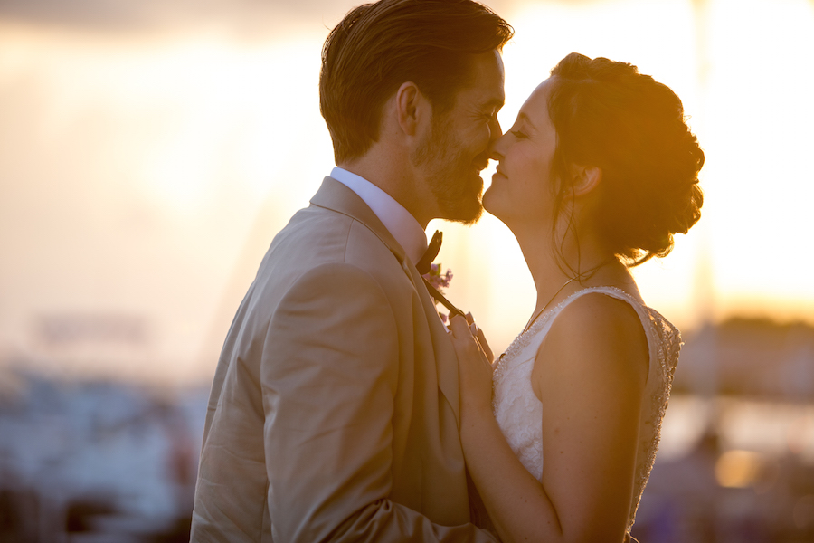 Tampa Bay Bride and Groom Sunset Wedding Picture | Tampa Bay Wedding Photographer Jillian Joseph Photography