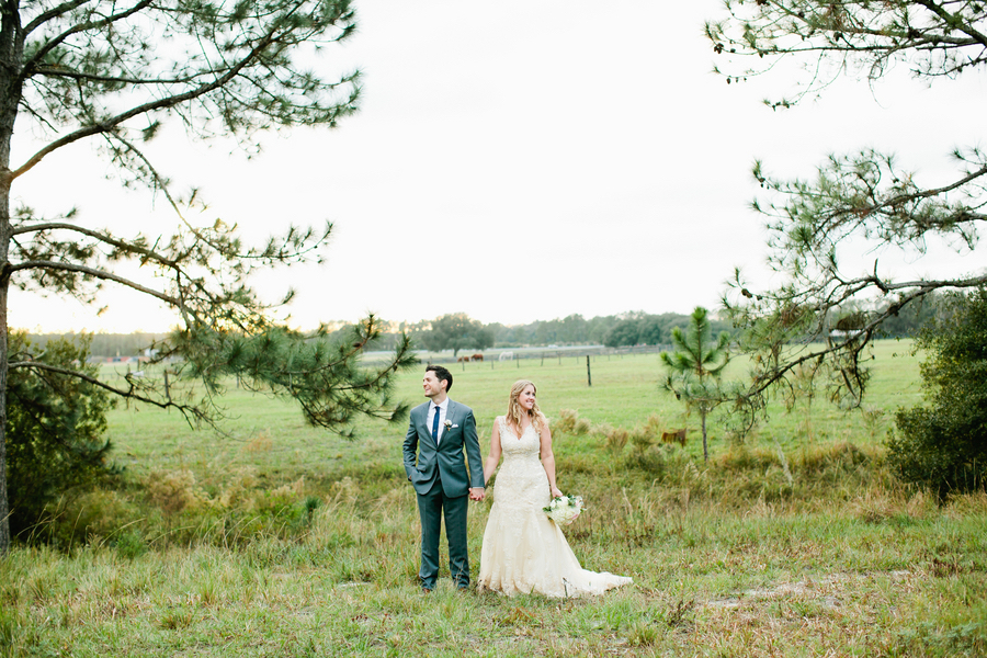Bride and Groom, Outdoor Wedding Portrait Bride and Groom | Outdoor, Rustic Tampa Bay/Dade City Wedding Venue Barrington Hill Farm
