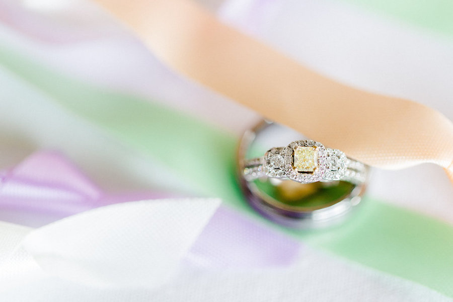 Bride and Groom Wedding Bands and Engagement Ring Detail | Clearwater Beach Wedding Photographer Ailyn La Torre Photography