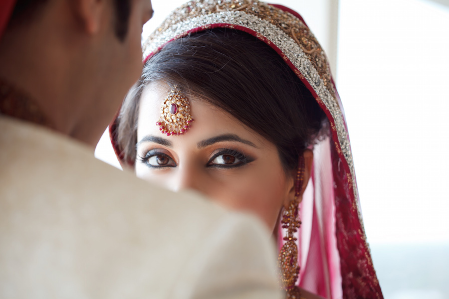Indian Bridal Wedding Portrait |Tampa Wedding Photographer | Carrie Wildes Photography