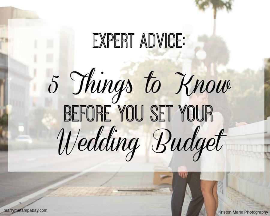 Expert Wedding Planning Advice: 5 Things Wedding Budget