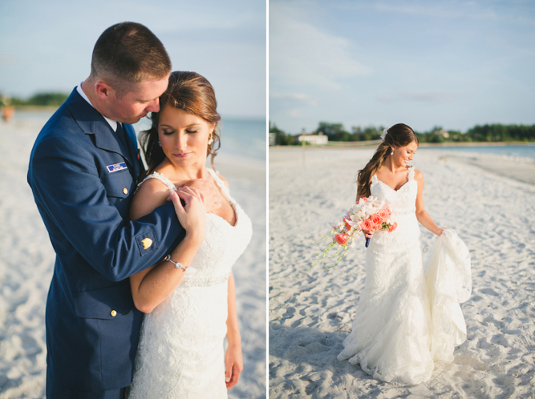 Tampa Bay Bride andGroom Beach Wedding Portrait | St. Pete Beach Wedding Photographer Roohi Photography